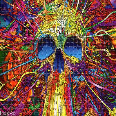 SKULL BLAST  BLOTTER ART perforated psychedelic LSD Acid Art paper sheet tabs