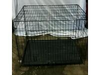 Large Folding Dog Cage