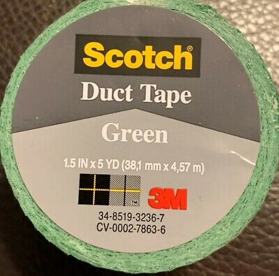 3m Company Green Duct Tape 1.5 X 5-yard Free Shipping