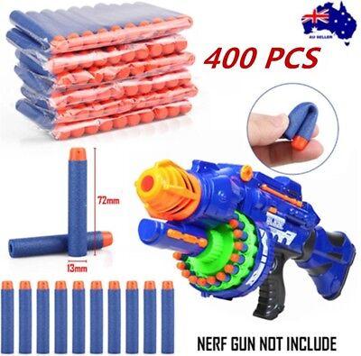 400 Pack Toy Gun Bullets Darts Round Head NERF N-Strike Blaster Blue Nurf Refill