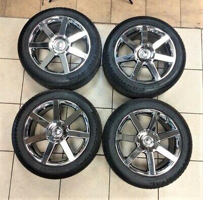 Cadillac XLR Chrome  Wheel Set w/ Continental Control Contact Tires  Very Nice!