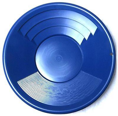 Goldwaschpfanne SE Gold Pan 12'' - 30 cm blau Kunststoff Goldwaschen Waschpfanne Gold Pan