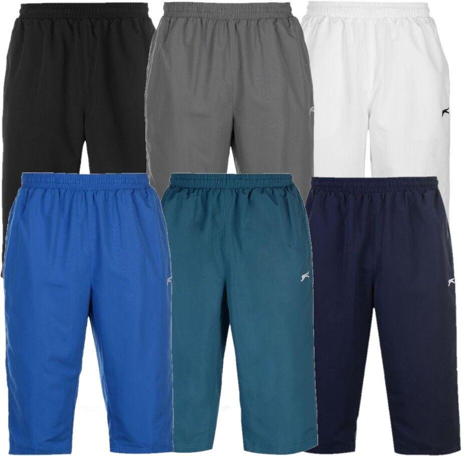 ✅ SLAZENGER Herren 3/4 dreiviertel kurze Hose Sport Fussball Bade Schwimm Shorts