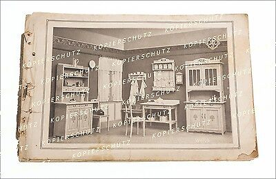 traumhafter alter Reklame Katalog für Jugendstil Küchen mit 35 Abbildungen 1910