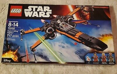 Lego Star Wars Poe's X-Wing Fighter (75102) Retired Set Open Box All Bags Sealed