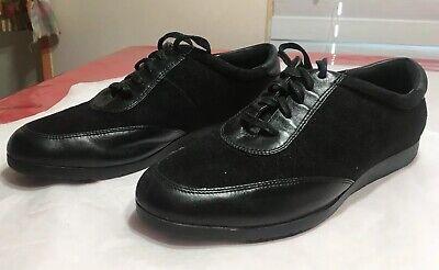 481-}COLE HAAN Black Leather Sneakers Women Sz 9 B (Cole Haan Frauen Schuhe)