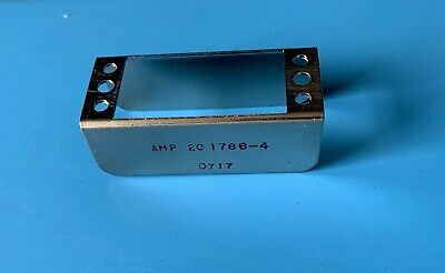 201786-4 Amp Connector Pin Hood Int 34 Position Panel Mt Carbon Steel Nickel Fin