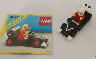 Legos 1986 Dragster Legoland Town System #1528 w/Instructions