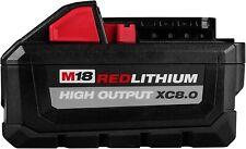 MILWAUKEE 48-11-1880 M18 REDLITHIUM HIGH OUTPUT 18v 8.0 Ah Lithium-Ion Battery