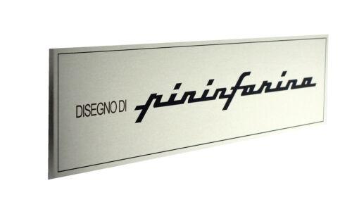 Pininfarina Emblem Badge Metal Sign