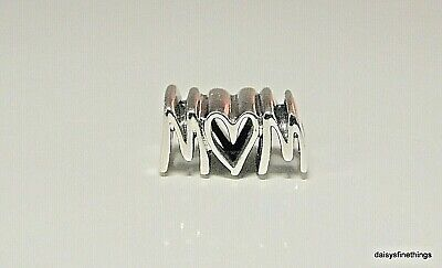 NEW/TAGS AUTHENTIC PANDORA SILVER CHARM  MOM SCRIPT  #797778