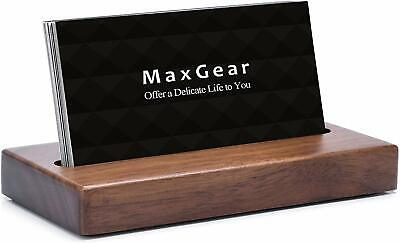 Maxgear Business Card Holder For Desk Wood Business Card Display Holders