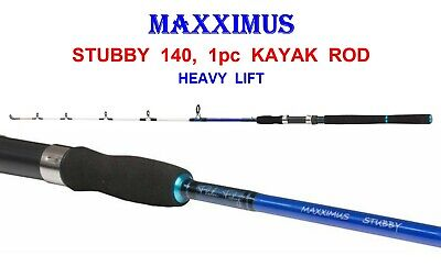 MAXXIMUS STUBBY 1pc SOLID CARBON KAYAK ROD FOR CANOE BOAT SEA FISHING LINE RIGS