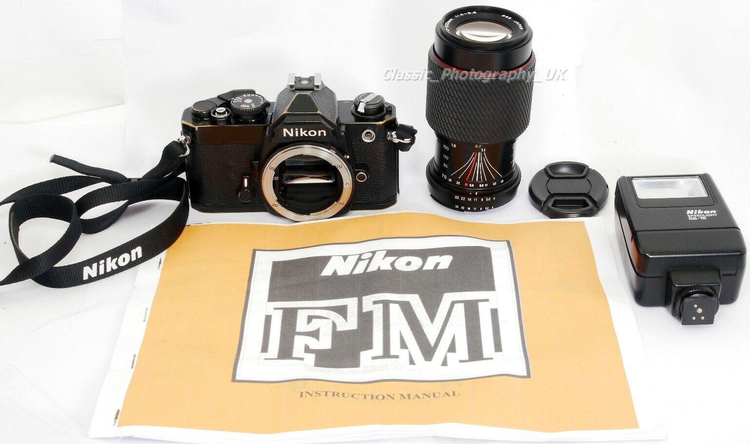 Nikon FM 35mm SLR + Tokina SD 70-210mm 1:4-5.6 + Nikon SPEEDLIGHT SB-18 Flash
