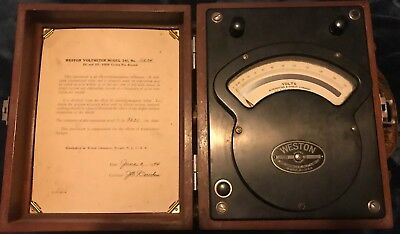 Vintage Antique Weston Model 341 Ac Dc Volt Meter 1944 Acdc Rare Test Equipment
