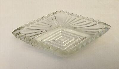 Vintage Circular Clear Cut Crystal Butter Pat Dishes Salt Cellars Mini Ashtray