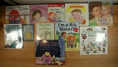 NEW BABY & BIG SISTER/BROTHER Books For Children! Paperback/Hardcover, Lot of 11