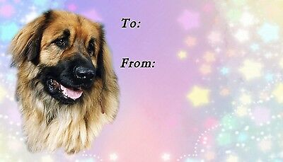 Leonberger Dog Self Adhesive Gift Labels by Starprint