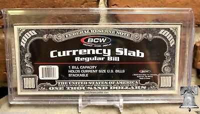 BCW Deluxe Currency Slab Dollar Case Regular Banknote Holder + Display Stand Deluxe Display Stand