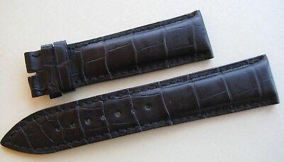 Original Ulysse Nardin Krokodilleder Armbanduhr Riemen 21/18 mm Schwarz