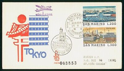 Mayfairstamps San Marino FDC 1975 Tokyo Combo First Day Cover wwo_59807