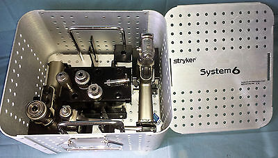 Stryker System 6 Drill Saw Set With Attachments Sterilization Case - Tested