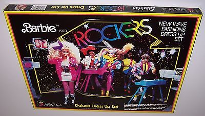 Barbie and Rockers Colorforms Deluxe New Wave Fashion Dress Up Set 1986 Unused