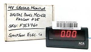Simpson F35-3-46-0 Electric Digital Panel Meter Falcon F353460