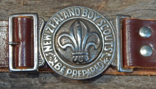 Vintage NEW ZEALAND Boy Scout Uniform BELT Worn 1920