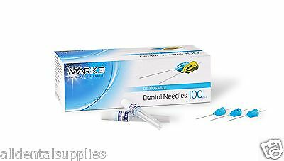 Plastic Hub Disposable Dental Needles 27 G Long Plastic 100bx Mark3 16304 1-38