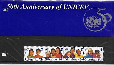 Gibraltar 96 - Pres pack- 50th anniv UNICEF - Children - United Nations - Health