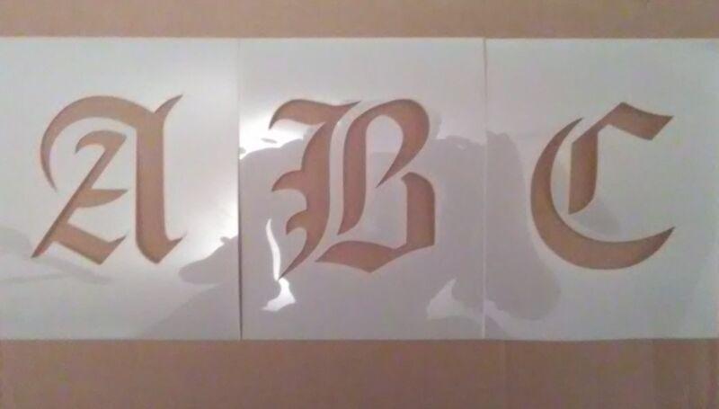 1 Inch Olde Font Uppercase Alphabet set