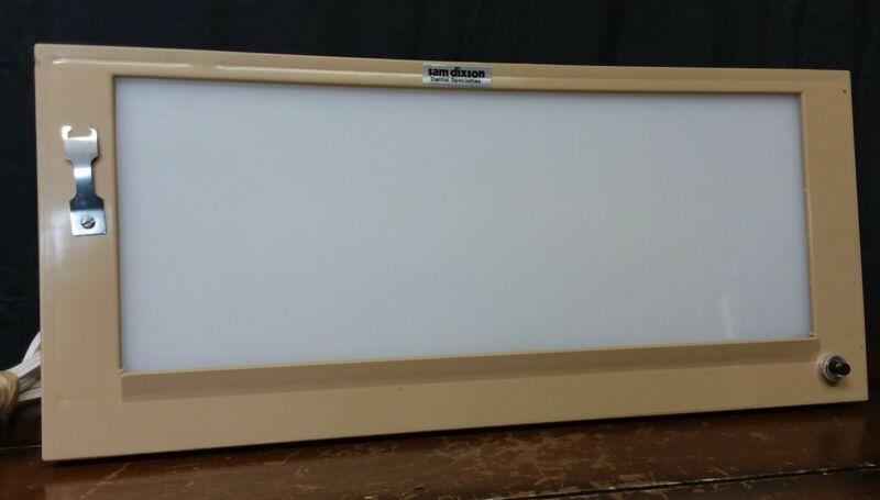 "Vtg Desk Light Box-Dental X Ray Drawing Architect Veiw Light Box 13""x4 3/4"""