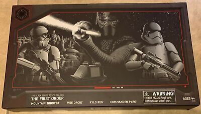"Star Wars Galaxy's Edge Black Series First Order 4 Figure Set 6"" NEW sealed"
