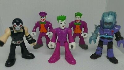 DC COMICS IMAGINEXT SUPER VILLAINS BUNDLE 5 FIGURES - JOKER X3, MR FREEZE, BANE