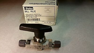Parker Ball Instrumentation Valve 4z-b6lj-ssp New 1pc
