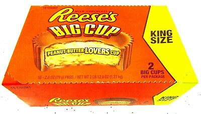 Reese's Big Cup King Size Lot of 16 Chocolate Peanut Butter Candy Snack Bulk