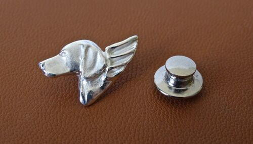 Small Sterling Silver Vizsla Angel Lapel Pin