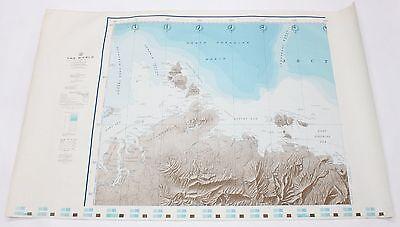 The World North Eurasian Basin 1961 Vintage Original US Navy Hydrographic Map