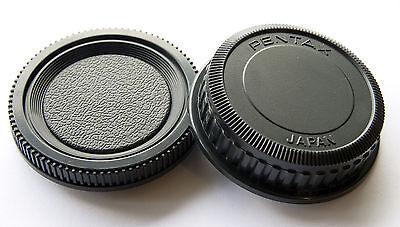 Camera Body Cover + Rear Lens Cap for Pentax PK K20D K10D K200D K100 K7 New*
