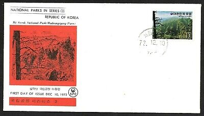 Korea, Two National Parks Series (3) Stamps Cachet FDC First Day Covers 1966