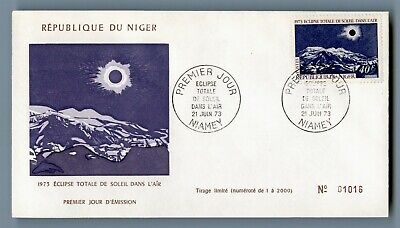 DR WHO 1973 NIGER FDC TOTAL SOLAR ECLIPSE  C240495