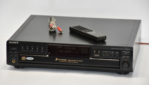 Sony CDP-CE545 5 Disc Carousel CD Player Changer w/Remote