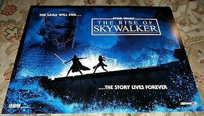 Star Wars Rise of Skywalker 13 1/4inx17.5in Original Cinemark Poster Ferguson