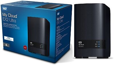 Nas Drive - WD 4TB My Cloud EX2 Ultra - Network Storage Hard Drives - NAS - WDBVBZ0040JCH