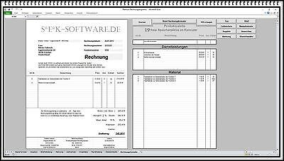 Rechnungsprogramm Rechnungssoftware Mahnung Lieferschein Angebot Fax Brief