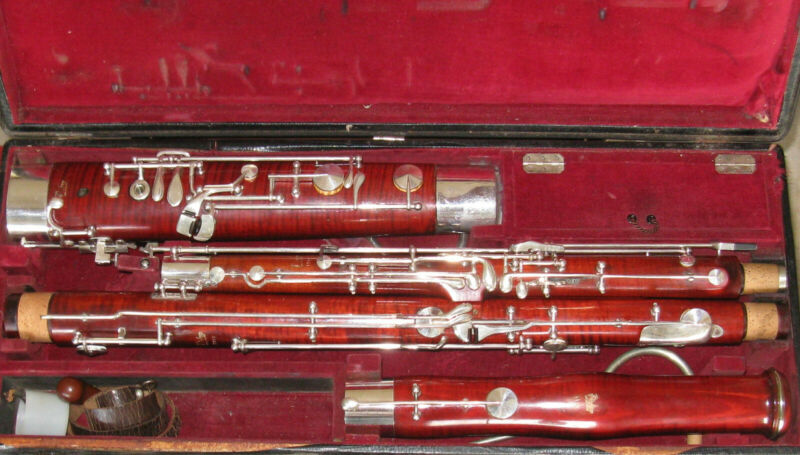 1964 Puchner Bassoon. All new pads/felts/corks and aligned professionally