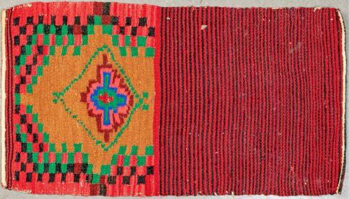 Native American Navajo Small Hand-Woven Wall or Area Rug, Circa 1800S
