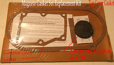 4 Piece Gasket Set For John Deere 1.5 Hp E Hit Miss Gas Engine Changing Magneto