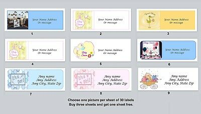 Personalized address labels Baby Shower Buy 3 get 1 free (xbs 6)